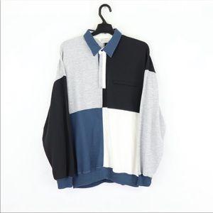 VTG Multi-Color Block Long Sleeve Shirt